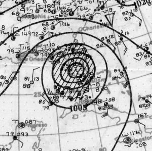 September 1928 Hurricane Chart