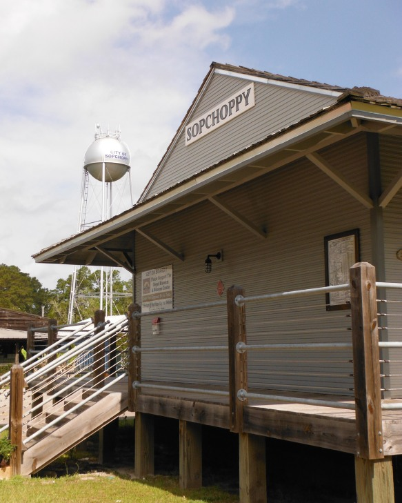 Historic Depot in Sopchoppy, FL