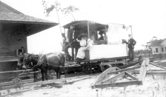 Panacea Tram Car at the Depot - Sopchoppy, Florida